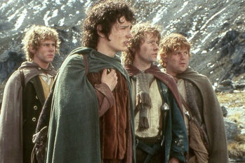 Merry, Frodo, Pippin, and Sam in Lord of the Rings.
