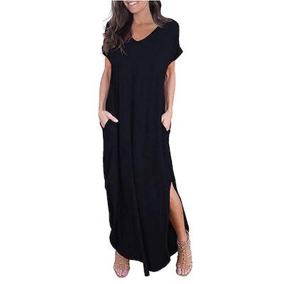 GRECERELLE Loose Pocket Maxi Dress