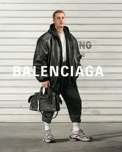 Justin Bieber for Balenciaga's Fall 2021 campaign.