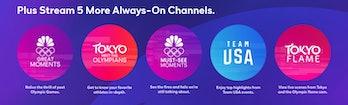 peacock app olympics channels