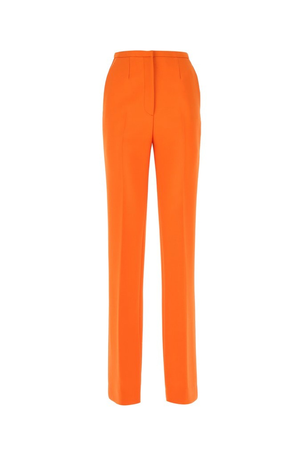 Orange tailored Palazzo pants from Prada, available to shop on Cettire.