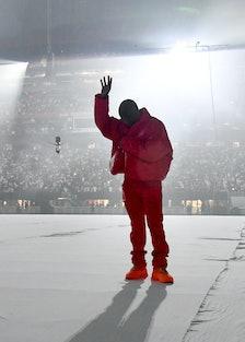 Kanye West performing Donda