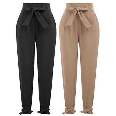 GRACE KARIN High Waist Pencil Pants with Bow-Knot (2 Pairs)