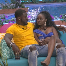 Watch An Exclusive First Look At Cinco & Trina's Tense Talk On Tonight's 'Love Island US.' Photo cou...