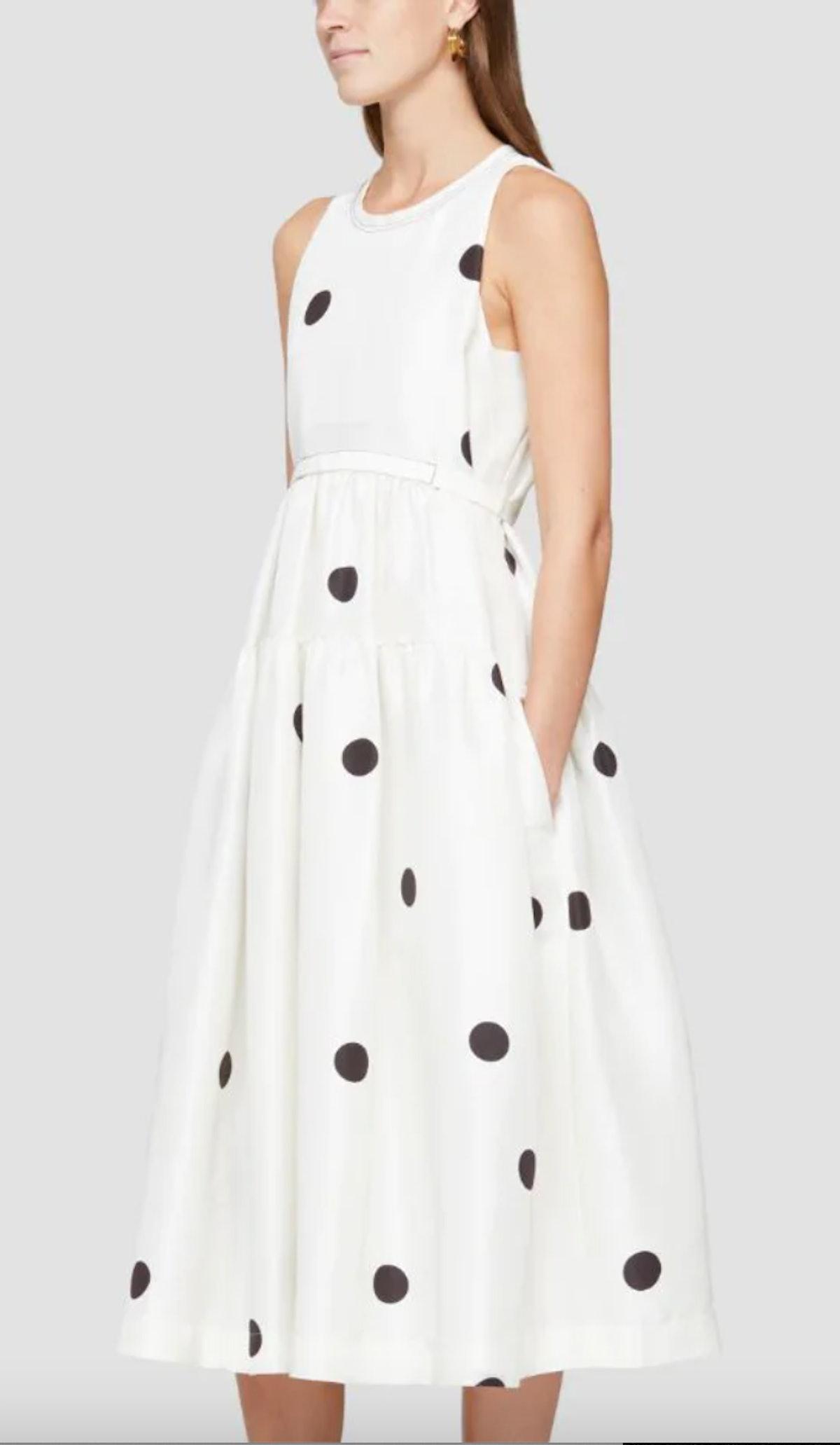 Phillip Lim's polka dot belted dress.