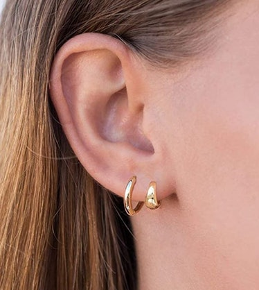 ZEZHOMCHI 14k Gold Filled Hoop Earring (2 Pairs)
