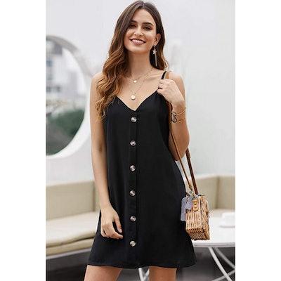 AlvaQ Button Down Mini Dress