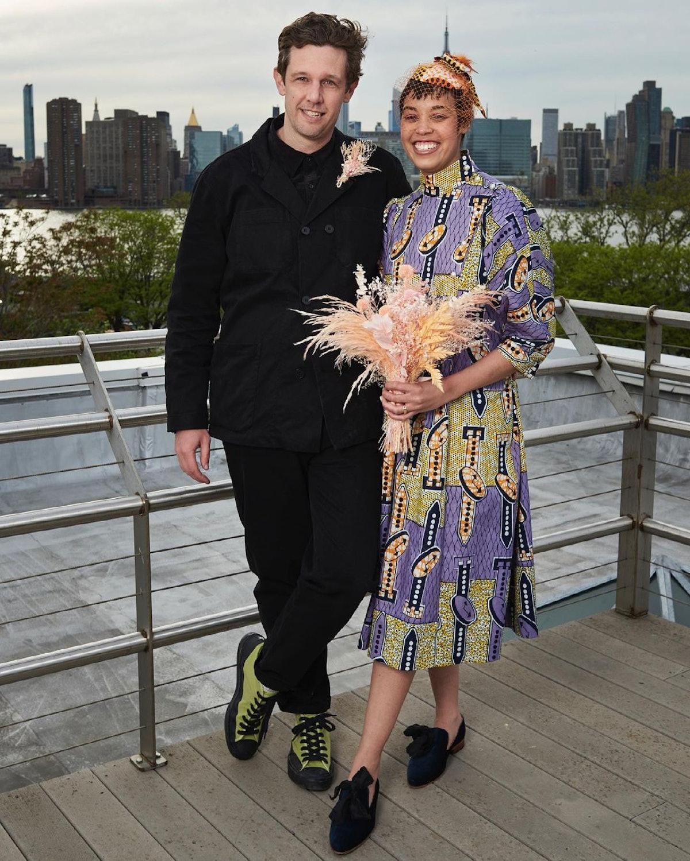 Jordan Casteel on her wedding day