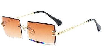 Dollger Rimless Rectangle Sunglasses