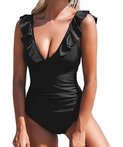 CUPSHE V Neck One Piece Swimsuit