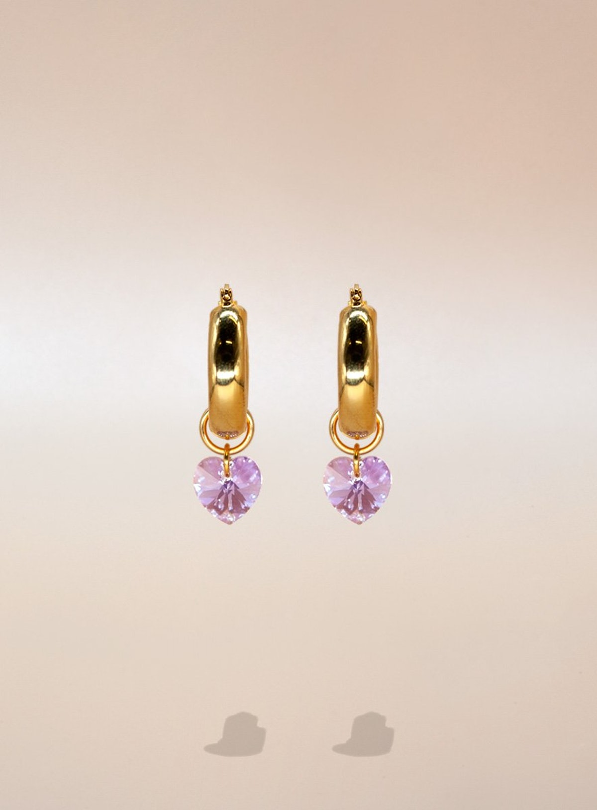 Lonely Hearts Club gold vermeil earrings from Annele.