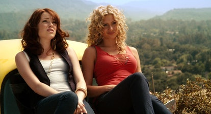 Emma Stone and Aly Michalka in 'Easy A.'