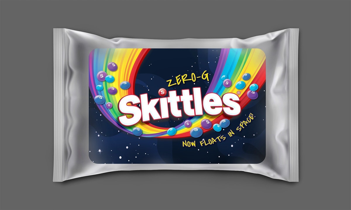 Skittles' Zero-G packs are a limited-edition treat.