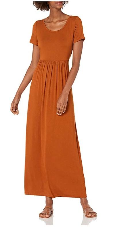 Daily Ritual Short-Sleeve Maxi Dress