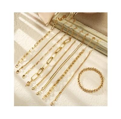 IF ME Chain Bracelets (Set of 9)