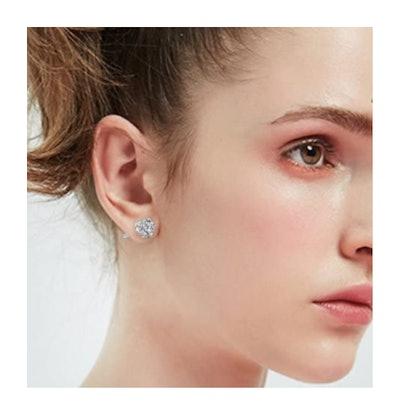 Manufac Stainless Steel Stud Earrings (Set of 6)