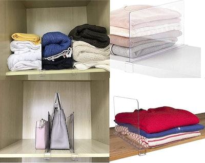 Cq Acrylic Shelf Dividers (4-PCS)