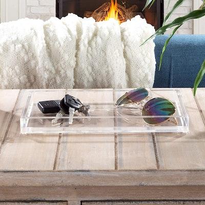 Lavish Home Acrylic Catchall Tray