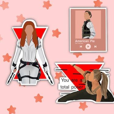 Black Widow Stickers| Marvel Fans