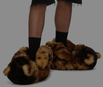 Vetements Wild Cat Teddy Loafers