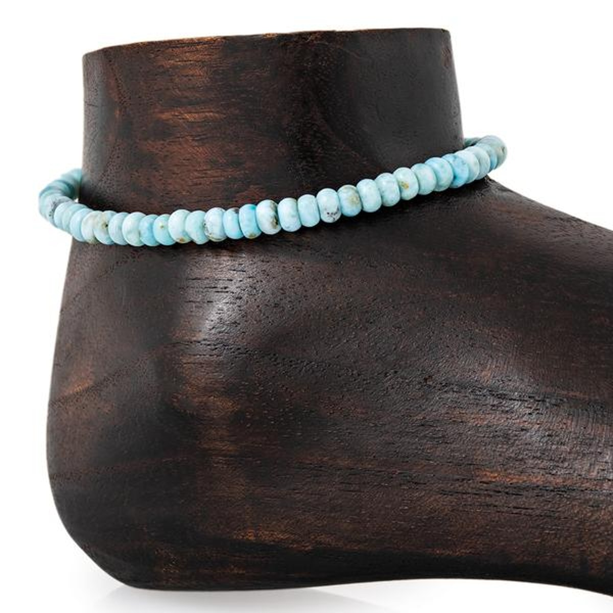 Small Smooth Amazonite Beaded Anklet