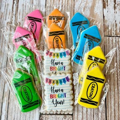 LogoCookieShop Back to School Theme Decorated Sugar Cookies