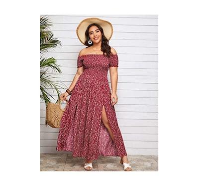 Floerns Off-Shoulder Long Dress