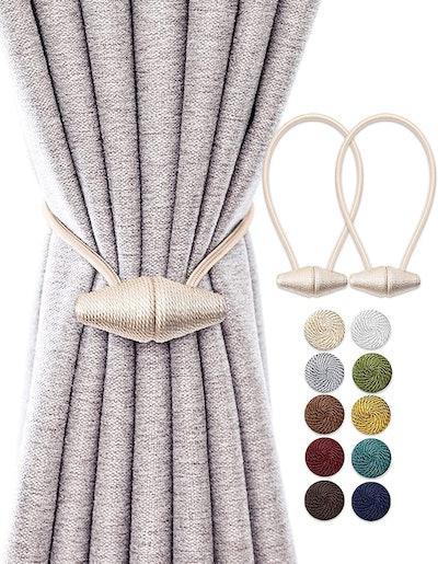 TECVINCI Magnetic Curtain Tiebacks (2-Pack)