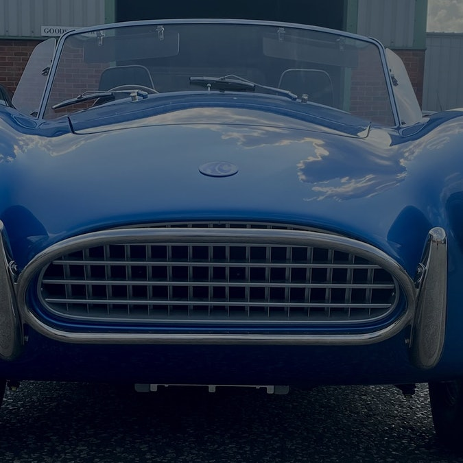 An all-electric Cobra from AC Cars. Electric vehicles. EVs. EV. Electric car.