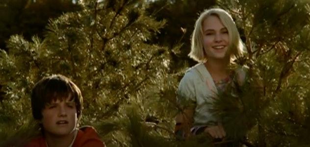 Josh Hutcherson stars in the film, Bridge to Terabithia.