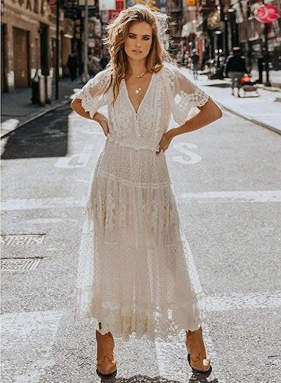 Bdcoco Lace Maxi Dress