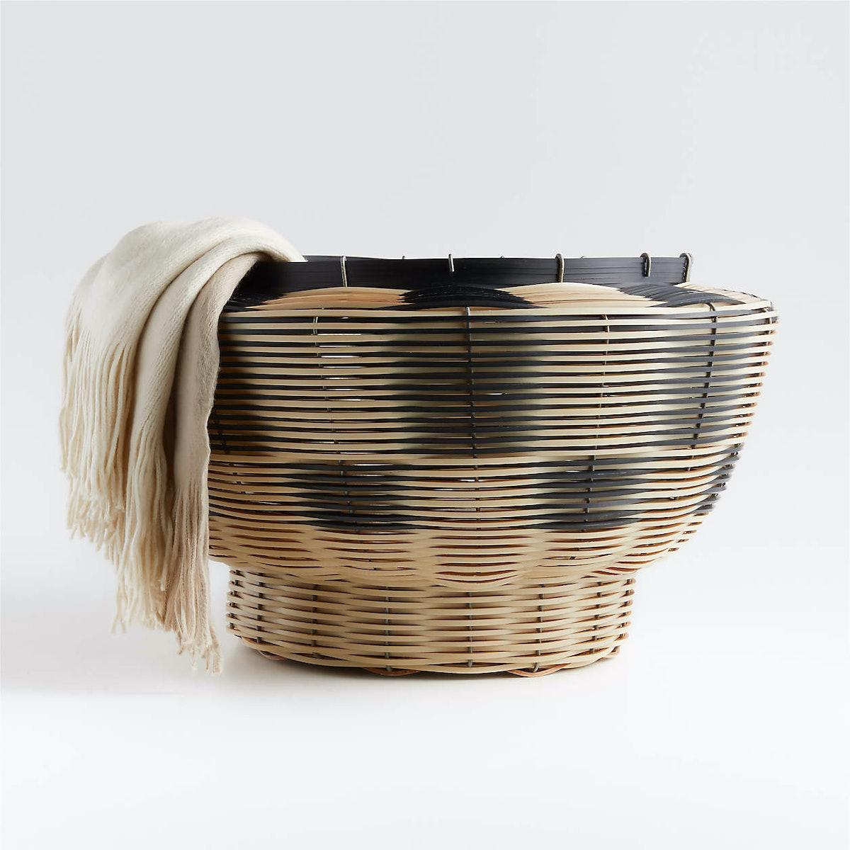 Woven Black Basket