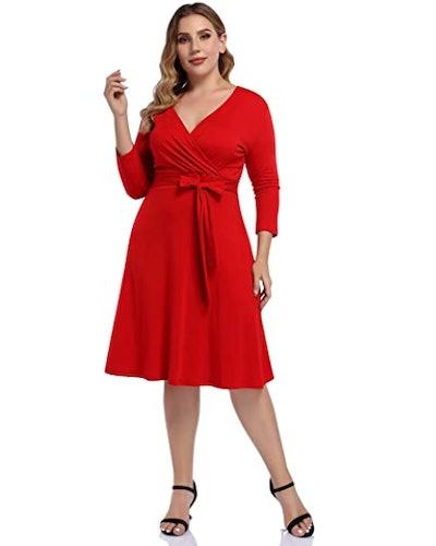 AMZ PLUS A-Line Midi Dress