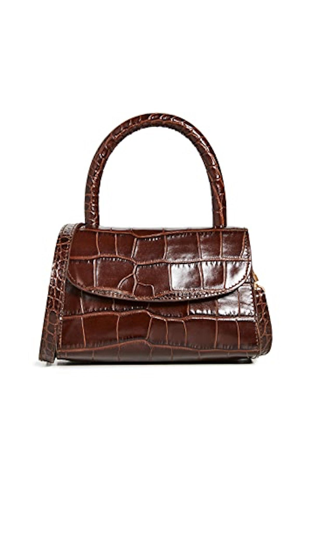 Mini Nutella Croco Top Handle Bag