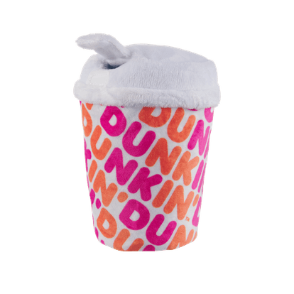 You can get Bark's Dunkin' dog toys at participating Dunkin' locations.