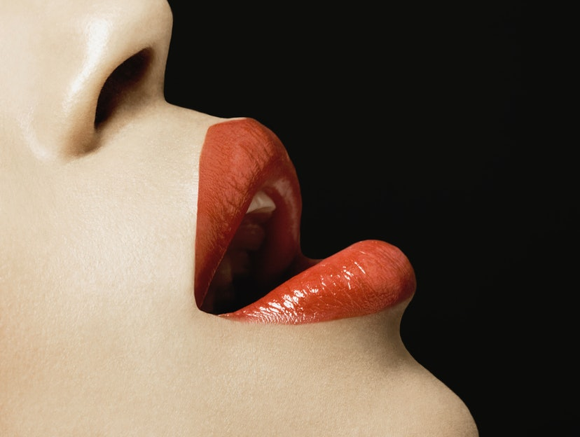 Woman's lips close up