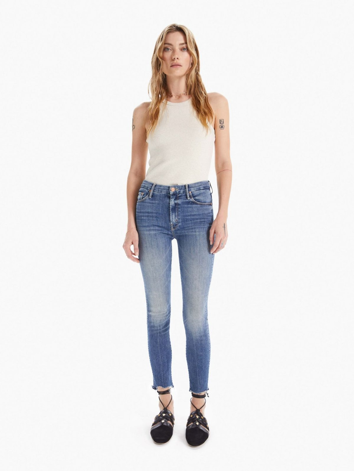 THE HIGH WAISTED LOOKER ANKLE FRAY