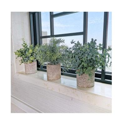 Winlyn Artificial Eucalyptus Plants (Set of 3)