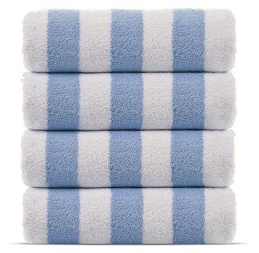 Chakir Turkish Linens  100% Cotton Cabana Towels (Set of 4)