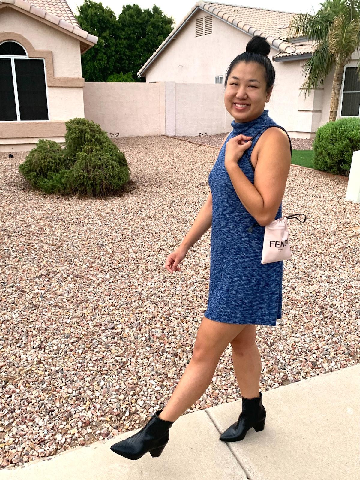 Amanda Chan carrying Fendi bag.