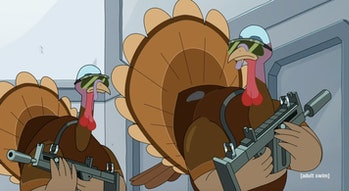 rick and morty turkey soldiers