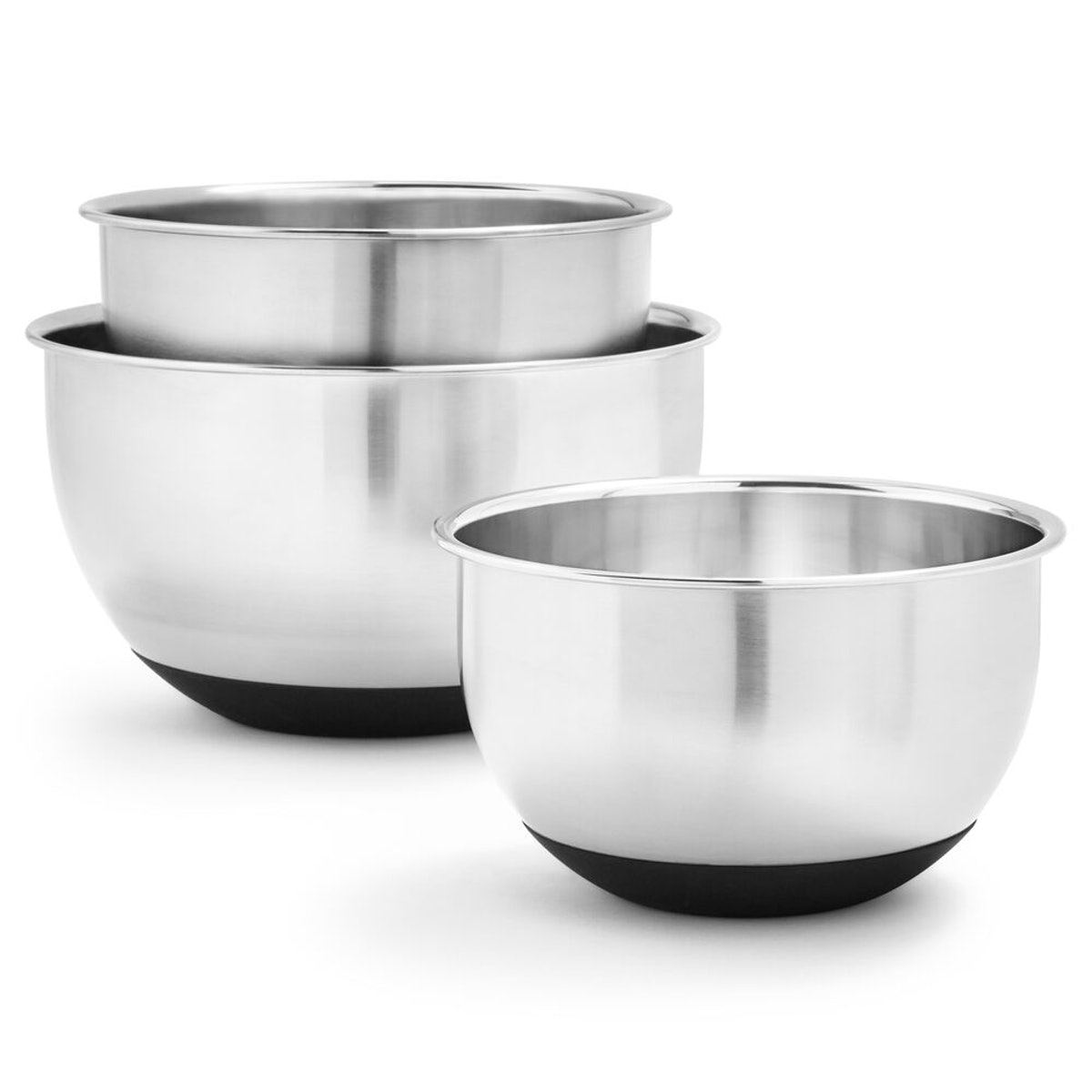 Steel Mixing Bowls, Set of 3