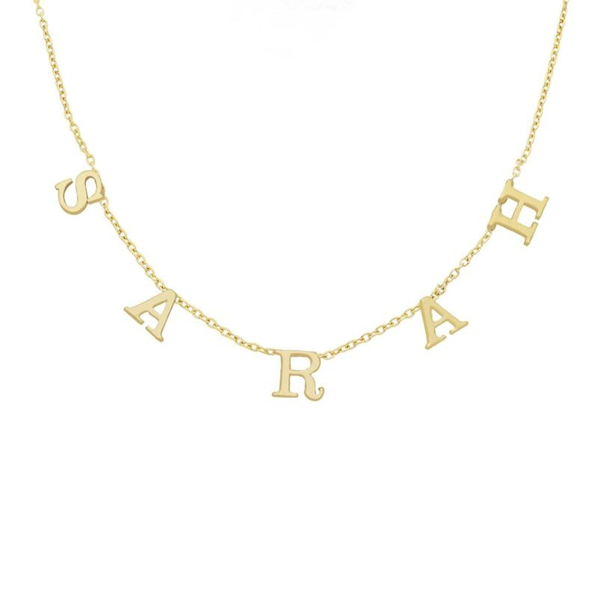 Tiny Spaced Out Name Necklace from Tres Colori.