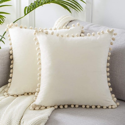 Top Finel Square Decorative Throw Pillow Covers (2-Pack)