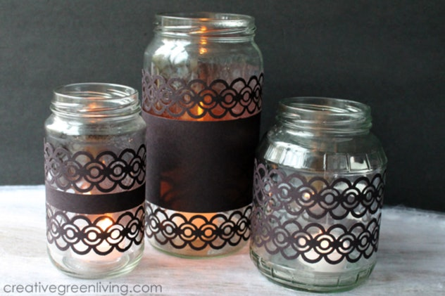 Candle holders are an easy construction paper craft to try.