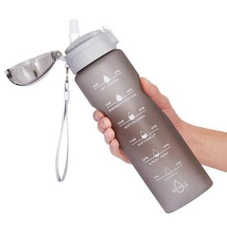 NOOFORMER Motivational Time Marker Water Bottle