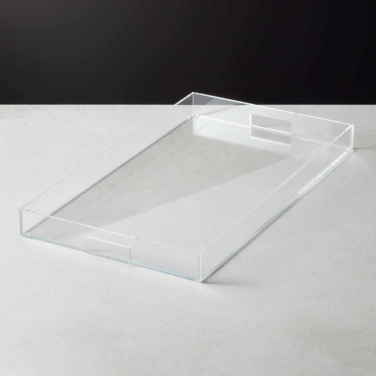 Acrylic Clear Rectangle Tray