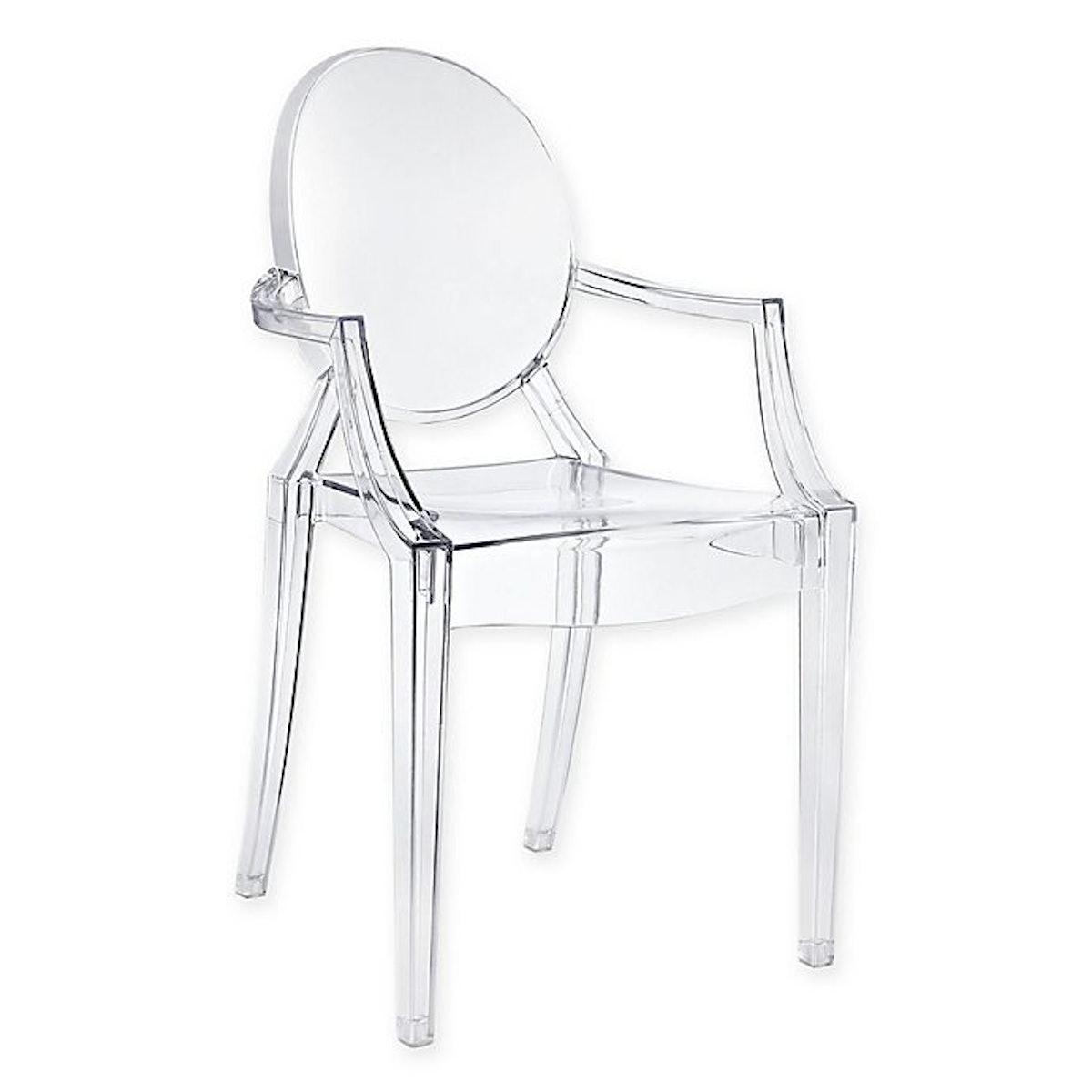Casper Dining Arm Chair in Clear
