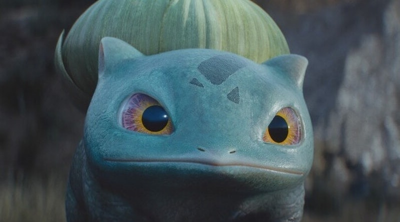 Live action Bulbasaur from 'Detective Pikachu'.