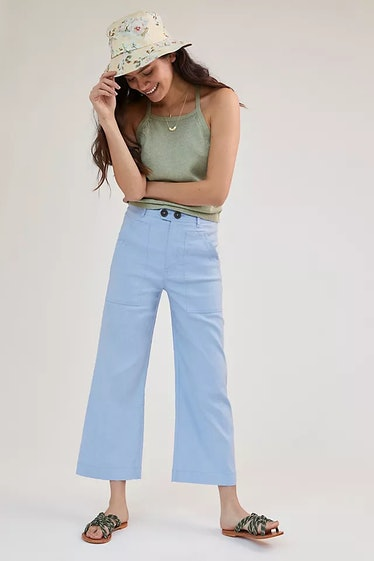 Maeve Colette Cropped Wide-Leg Pants
